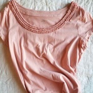 EUC Loft Soft Pink Short Sleeved Tee Large